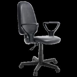 Офисное кресло эконом ПРЕСТИЖ кож/зам 1130/600/550...