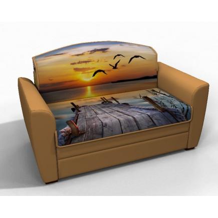 Диван кровать Квинт фотопечать